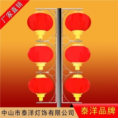 江苏LED景观灯户外防水600灯笼三连串带支架